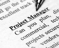 Project manager Stock Image