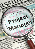 Project Manager Job Vacancy. 3D. Stock Image