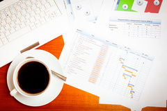 Project Manager`s Desk Royalty Free Stock Photography