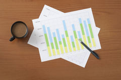 Project manager's desk Royalty Free Stock Photography