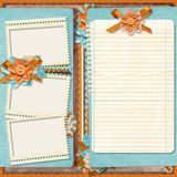 Retro family album.365 Project. Scrapbooking templates. Royalty Free Stock Photos