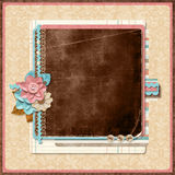 Retro family album. Title. Scrapbooking templates. Stock Image