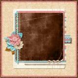 Retro family album. Title. Scrapbooking templates. royalty free illustration