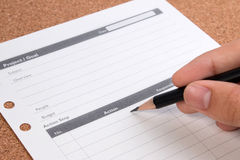 Project plan concepts. Blank business planning chart form. Details of empty project plan chart for tasks. Royalty Free Stock Photo