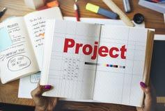 Project Plan Operation Job Strategy Venture Task Concept.  Stock Photos