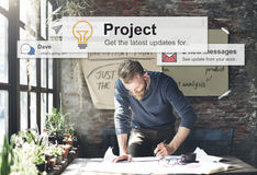 Project Plan Operation Job Strategy Venture Task Concept Royalty Free Stock Photography