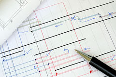 Project planning. Working on the project planning Royalty Free Stock Photography