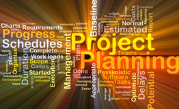 Project planning background concept glowing stock illustration