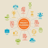 Project Planning. Concept with icons. Stock Images