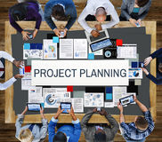 Project Planning Information Explaining Ideas Concept Royalty Free Stock Image