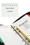 Project planning for new year Royalty Free Stock Photography