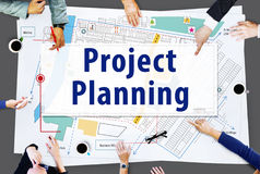 Project Planning Strategy Vision Tactics Design Plan Concept Royalty Free Stock Images