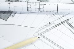 Project plans Stock Images