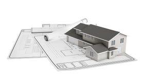 Project plastic huis royalty-vrije illustratie