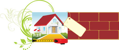Project of the private house. Decorative banner Royalty Free Stock Photo