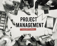 Project Progress Business Managment Plan Concept stock image