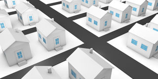 The project of residential area with private houses Royalty Free Stock Image