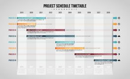 Project Schedule Timetable Infographic Stock Photos