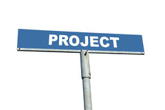 Project signpost Royalty Free Stock Photography
