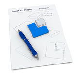 Project sketch Royalty Free Stock Photo