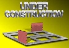 Project under construction Royalty Free Stock Image