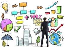 Project van bedrijfsanalyse stock foto