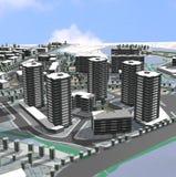 Project van woonwijk stock illustratie