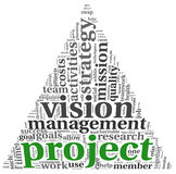Project and vision in tag cloud Royalty Free Stock Photos