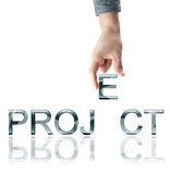 Project word Stock Photography