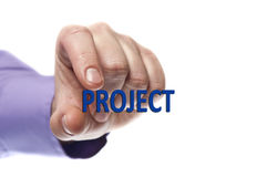 Project word Royalty Free Stock Photo