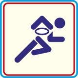 Projecten van de de pictogrammendruk van rugbysporten de Vector Stock Afbeeldingen