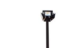 Projecteur, courrier de lampe d'isolement sur le blanc images stock