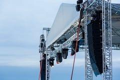 Projecteur d'étape avec des haut-parleurs Photos stock
