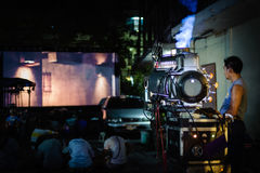 Projecteur de film de cru images stock