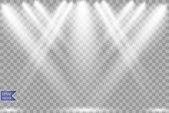 Projecteur de vecteur Effet de la lumière illustration stock