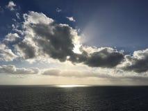 Projecteur sur l'océan Photo stock
