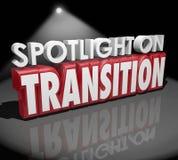 Projecteur sur mots de la transformation 3d de changement de transition différents illustration stock