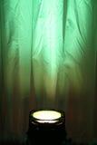 Projecteur vert Photo stock