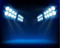 Projecteurs bleus. Illustration de vecteur. Image libre de droits