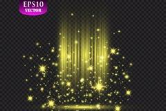Projecteurs brillants sur le rideau en étape Illustration de vecteur illustration libre de droits