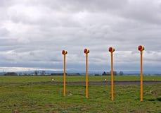 Projecteurs d'atterrissage d'approche d'aéroport Image libre de droits