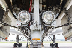 Projecteurs d'atterrissage sur la vitesse Photos libres de droits