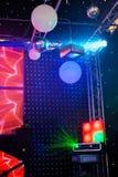 Projecteurs dans un concert Image stock