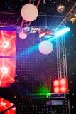 Projecteurs dans un concert Images libres de droits