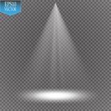 Projecteurs de vecteur scène Effets de la lumière illustration libre de droits