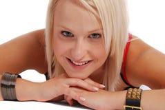 Projectile blond de beauté Image libre de droits