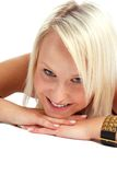 Projectile blond de beauté Photo stock