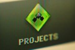 Projectile d'écran Photographie stock libre de droits
