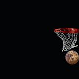 Projectile de basket-ball Photos libres de droits