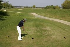 Projectile de golf Image libre de droits